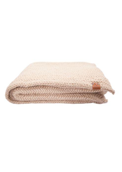 deken zandkleurig grannysfinest social duurzaam